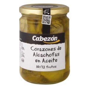 Alcachofas en Aceite 10-12 Frutos frasco 460