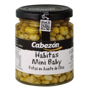 Habitas mini baby fritas en aceite de oliva 250