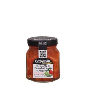 Bruschetta de piquillo y alcachofa