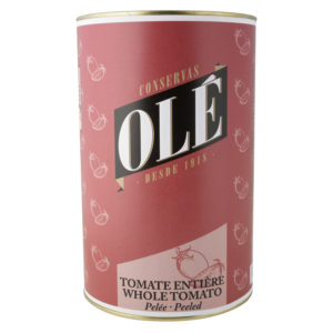 Tomate entero pelado Olé