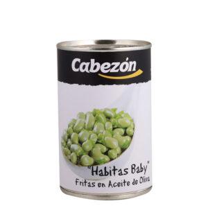 Habitas baby fritas en aceite de oliva lata 1/2 kg